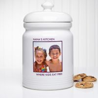 Picture Perfect 1-Photo Multicolor Cookie Jar