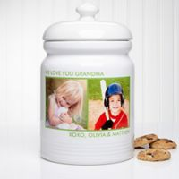 Picture Perfect 2-Photo Multicolor Cookie Jar