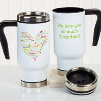 Heart of Love 14 oz. Commuter Travel Mug