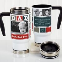 Dad Photo Collage 14 oz. Commuter Travel Mug