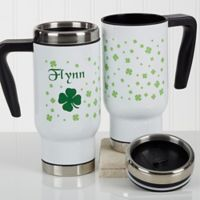 Irish Clover 14 oz. Commuter Travel Mug
