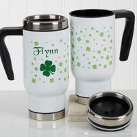 Irish Clover 14 oz. Commuter Travel Mug