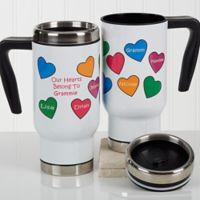 Our Hearts Belong To You 14 oz. Travel Mug in White
