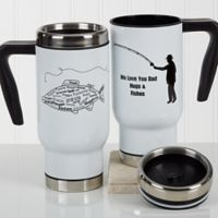 What A Catch! 14 oz. Travel Mug in White