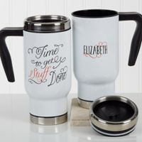 Daily Cup of Inspiration 14 oz. Travel Mug in White