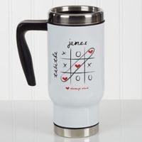Love Always Wins! 14 oz. Travel Mug in White