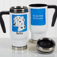 Top Dog 14 oz. Travel Mug in White