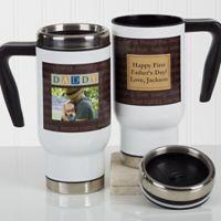 Just For Him 14 oz. Travel Mug in White