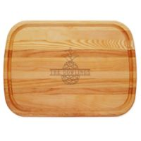 Carved Solutions Split Pineapple 21-Inch x 15-Inch Everyday Board