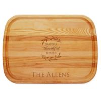 Carved Solutions Grateful Thankful 21-Inch x 15-Inch Everyday Board
