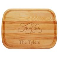 "Carved Solutions ""Peace"" 21-Inch x 15-Inch Everyday Board"