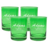 Carved Solutions Adams Double Old Fashioned Glasses in Emerald (Set of 4)