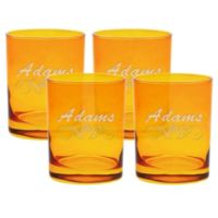 Carved Solutions Adams Double Old Fashioned Glasses in Topaz (Set of 4)