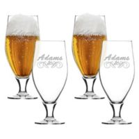 Carved Solutions Adams Cervoise Glasses (Set of 4)