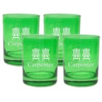 Carved Solutions Adirondack Chair Double Old Fashioned Glasses in Emerald (Set of 4)