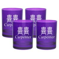 Carved Solutions Adirondack Chair Double Old Fashioned Glasses in Amethyst (Set of 4)