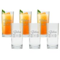 Carved Solutions Arrows Highball Glasses (Set of 6)