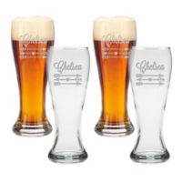 Carved Solutions Arrows Pilsner Glasses (Set of 4)