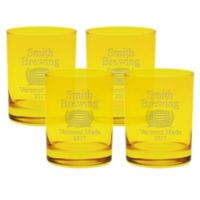 Carved Solutions Brewing Double Old Fashioned Glasses in Citrine (Set of 4)