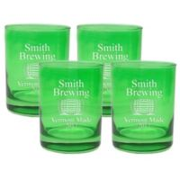 Carved Solutions Brewing Double Old Fashioned Glasses in Emerald (Set of 4)