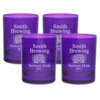 Carved Solutions Brewing Double Old Fashioned Glasses in Amethyst (Set of 4)