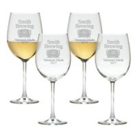 Carved Solutions Brewing Tulip Wine Glasses (Set of 4)