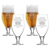 Carved Solutions Brewing Cervoise Glasses (Set of 4)