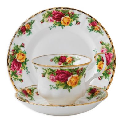 Royal Albert Old Country Roses 3-Piece Place Setting  sc 1 st  Bed Bath u0026 Beyond & Buy Country Dinnerware Sets from Bed Bath u0026 Beyond