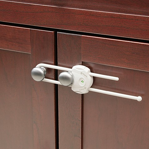 kitchen cabinet door latches safety 1st 174 securetech cabinet lock buybuy baby 5286