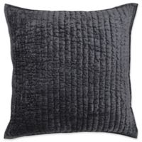 Villa Home Maison Square Throw Pillow in Charcoal