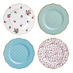 Royal Albert New Country Roses Assorted Accent Plates (Set of 4)