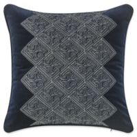 Waterford® Leighton Embroidered Square Throw Pillow in Midnight