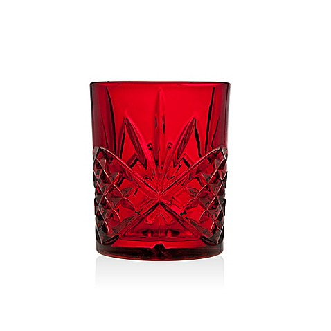 Godinger Dublin Red Double Old Fashioned Glasses Set Of 4
