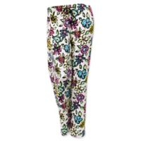 Hello Mello Large Floral Lounge Pants in White