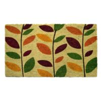 Nature by Geo Crafts Colorful Leaves 18-Inch x 30-Inch Multicolor Door Mat