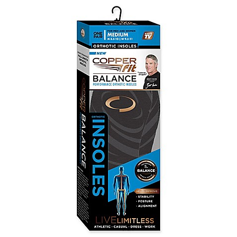 Copper Fit 174 Balance Performance Orthotic Insoles Bed