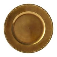 Beaded Charger Plates in Bronze (Set of 6)
