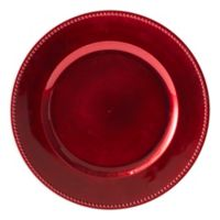 Beaded Charger Plates in Red (Set of 6)