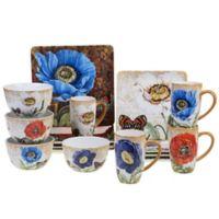 Certified International Poppy Garden by Susan Winget 16-Piece Dinnerware Set