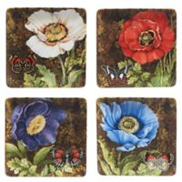 Certified International Poppy Garden by Susan Winget Dinner Plates (Set of 4)