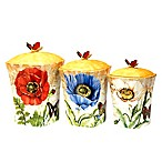 Certified International Poppy Garden by Susan Winget 3-Piece Canister Set