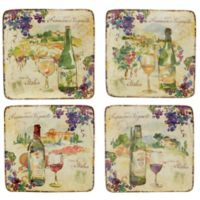 Certified International Vino Canape Plates (Set of 4)