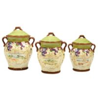 Certified International Vino 3-Piece Canister Set
