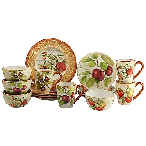 Certified International Tuscan Fruit by Susan Winget 16-Piece Dinnerware Set  sc 1 st  Bed Bath u0026 Beyond & Certified International Tuscan Fruit by Susan Winget 16-Piece ...
