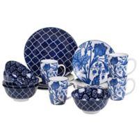 Certified International Blue Indigo by Bronson Pinchot 16-Piece Dinnerware Set