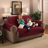Innovative Textile Solutions Microfiber Sofa Protector in Burgundy