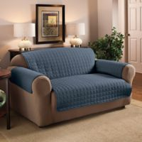 Innovative Textile Solutions Microfiber Sofa Protector in Slate Blue