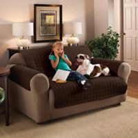 Innovative Textile Solutions Microfiber XL Sofa Protector in Chocolate