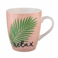 "Formations Jumbo ""Relax"" Mug in Pink"