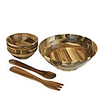 7-Piece Acacia Wood Salad Set